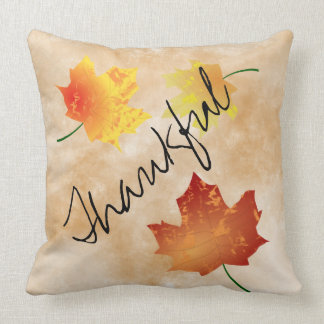 Fall Leaves Thankful Pillow
