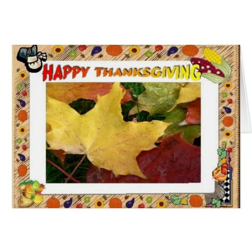 Fall Leaves Thanksgiving Greeting Card