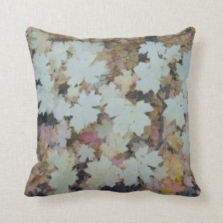 Fall leaves throw pillow