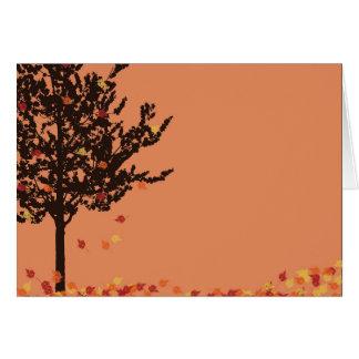 Fall Leaves Tree Blank Notecard