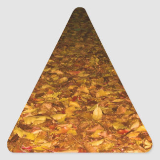 Fall Leaves Triangle Sticker
