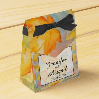 Fall Leaves Wedding Favor Box