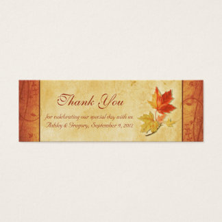 Fall Leaves Wedding Thank You Favor Tags