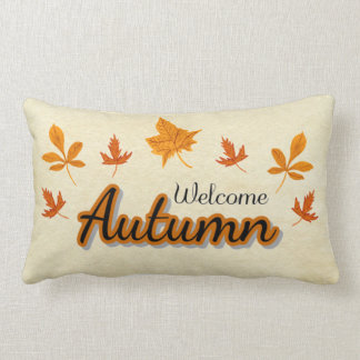 Fall Leaves Welcome Autumn Lumbar Pillow