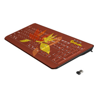 Fall leaves wireless keyboard
