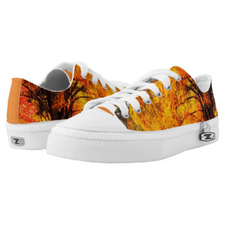 Fall leaves with orange accent shoes