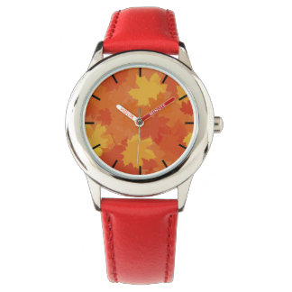 Fall Leaves Wrist Watches
