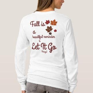 fall let it go women's shirt