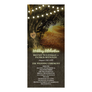 Fall Lights Oak Tree Wedding Ceremony Programs