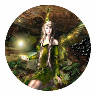 Fall Magic Fairy Standing Photo Sculpture