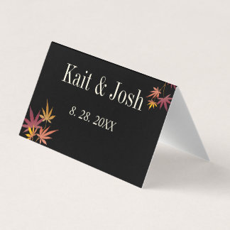Fall Maple Autumn Wedding Place Card