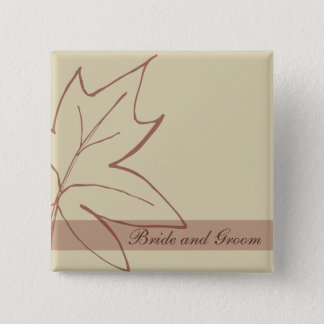 Fall Maple Leaf Wedding Button