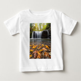 Fall Maple Leaves at Hidden Falls waterfall Baby T-Shirt
