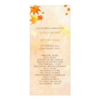 Fall Maple Wedding Celebration Program Full Color Rack Card