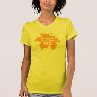 Fall me leaf text slogan t-shirt