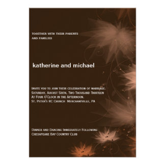 Fall Minimalist Floral Wedding Invitation
