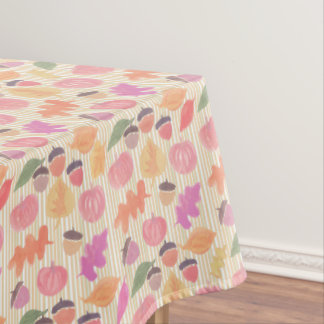 Fall Mix and Stripes Tablecloth