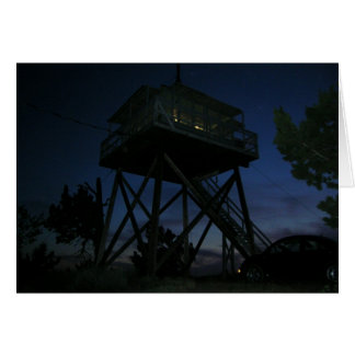 Fall Mountain Fire Lookout Card