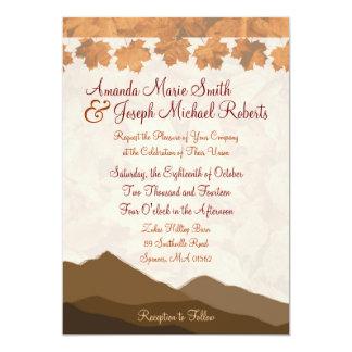 "Fall Mountain Wedding Invitation 5"" X 7"" Invitation Card"
