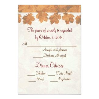 "Fall Mountain Wedding RSVP 3.5"" X 5"" Invitation Card"