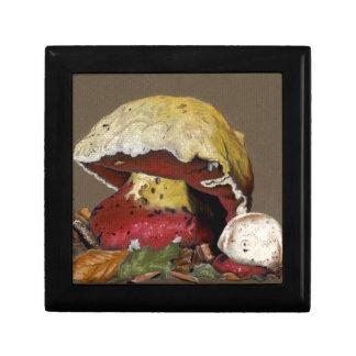 Fall Mushroom Autumn Leaves Gift Box