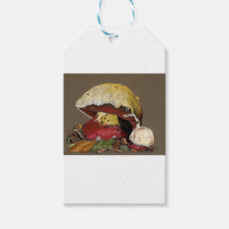 Fall Mushroom Autumn Leaves Gift Tags