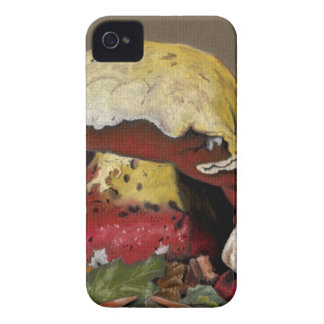 Fall Mushroom Autumn Leaves iPhone 4 Case-Mate Case