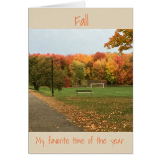 Fall- My Favorite time of the year Card