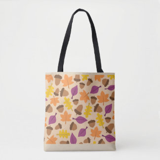 Fall Nature Pattern Tote Bag