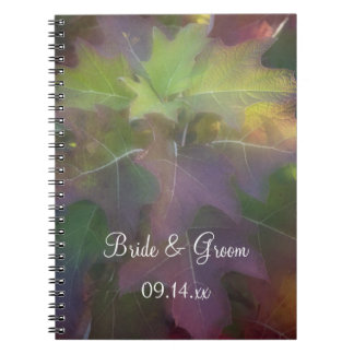 Fall Oak Leaf Hydrangea Wedding Notebooks