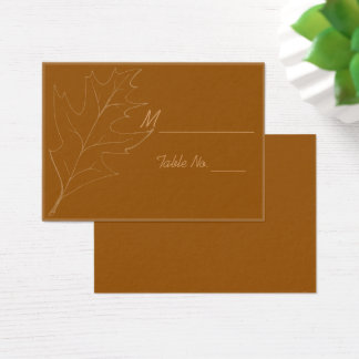 Fall Oak Leaf Wedding Place Cards