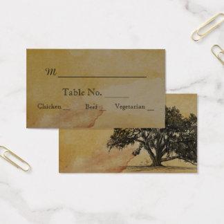 Fall Oak Tree String Lights Wedding Place Cards