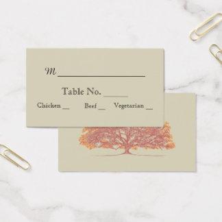 Fall Oak Tree Wedding Place Cards