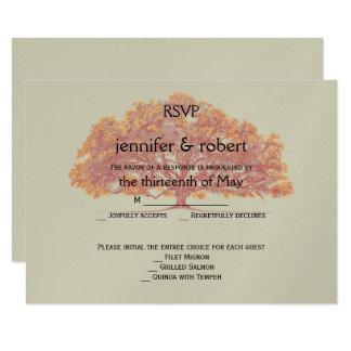 Fall Oak Tree Wedding Response Card