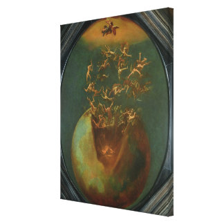 Fall of Satan and the Rebel Angels from Heaven Stretched Canvas Print