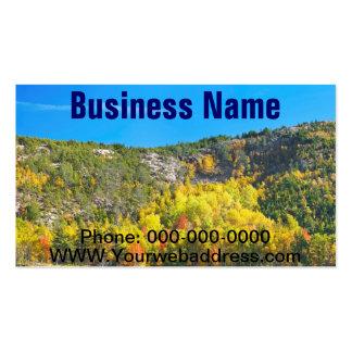 Fall On Beaver Dam Pond Acadia National Park Maine Business Card Templates