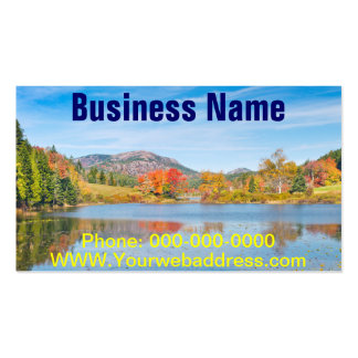 Fall on Long Pond Acadia National Park Maine Business Cards
