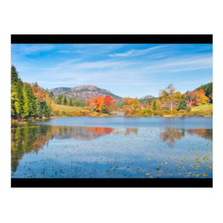 Fall on Long Pond Acadia National Park Maine Postcard
