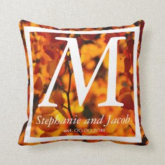 Fall orange Aspen tree   Wedding keepsake pillow
