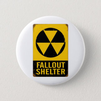 FALL OUT SHELTER 2 INCH ROUND BUTTON