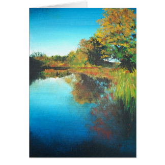 Fall Painting of Rogue River Greeting Cards
