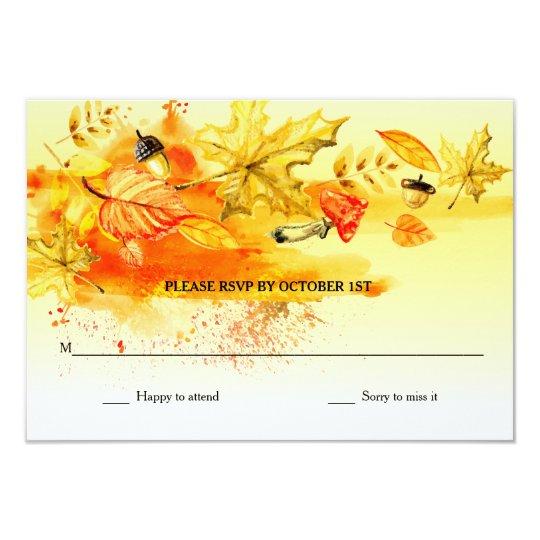 Fall Palette RSVP Cards