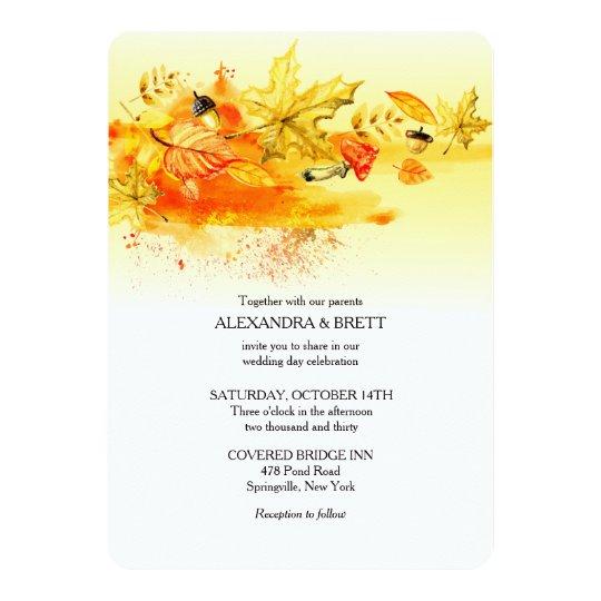 Fall Palette Wedding Invitation
