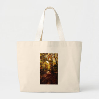Fall Path on the Island Large Tote Bag