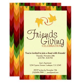 Fall Pattern NO.1 Customized Invitation Card