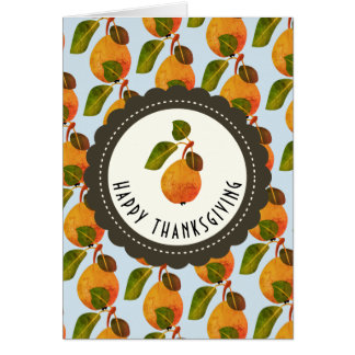 Fall Pears Fruit Thanksgiving Card