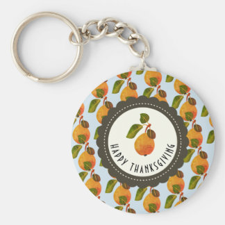 Fall Pears Fruit Thanksgiving Keychain