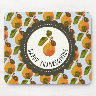 Fall Pears Fruit Thanksgiving Mouse Pad