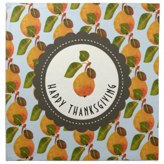 Fall Pears Fruit Thanksgiving Napkin