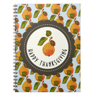 Fall Pears Fruit Thanksgiving Notebook